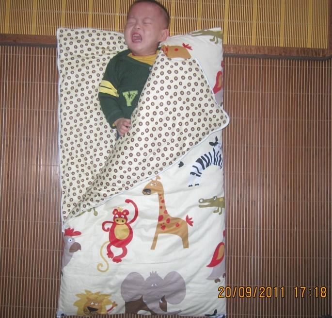 绍兴棉宝宝寝具店;专业定做婴儿棉花抱被,儿童睡袋,抱被和睡袋全活动