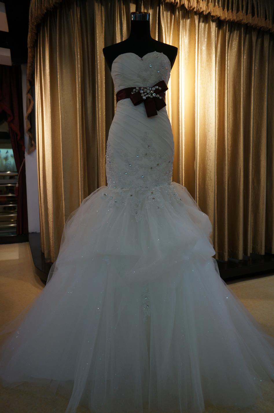 台湾布蕾丝婚纱礼服婚庆