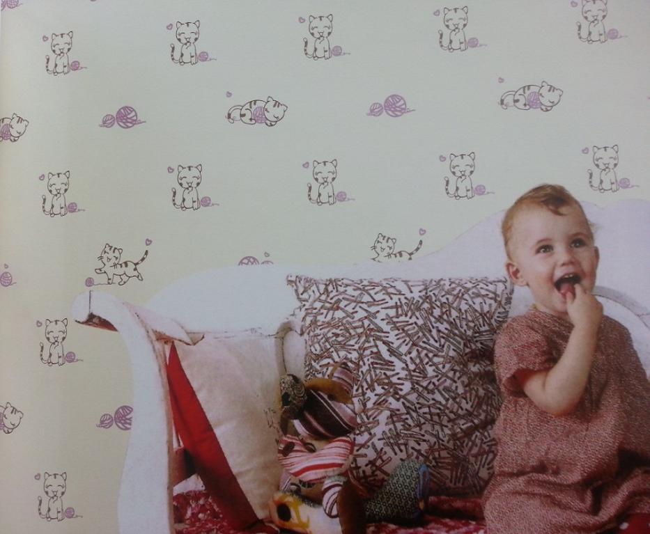 环保无纺墙纸宝宝房专用