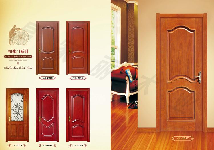 实木复合烤漆扣线套装门