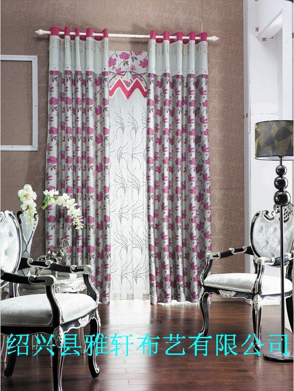 中式古典花卉窗帘布 喜庆窗帘布