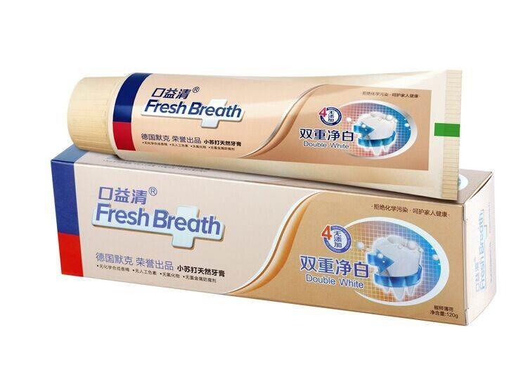 口益清双重净白小苏打天然牙膏