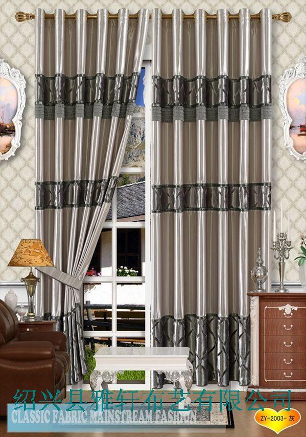 拼接窗帘布效果图卧室客厅阳台用的窗帘印花窗帘
