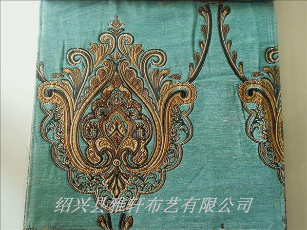 欧式装修选择什么款式的窗帘面料金丝雪尼尔加厚窗帘布