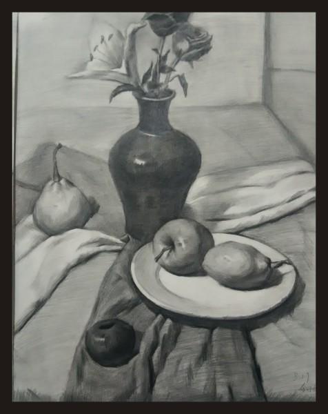 高中课程:美术高考——素描静物,石膏,头像;色彩静物,风景;速写场景