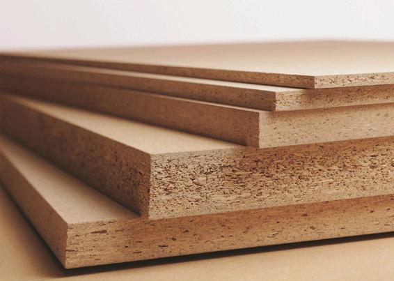 实木颗粒板:是由木材或其他木质纤维素材料制成的碎料,施加胶粘剂后