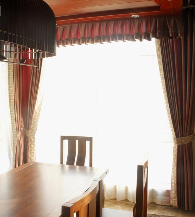 钱清万兴庄园客厅中式窗帘图片