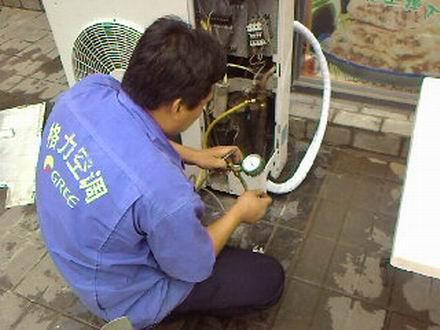 绍兴美的空调维修加氟拆装机