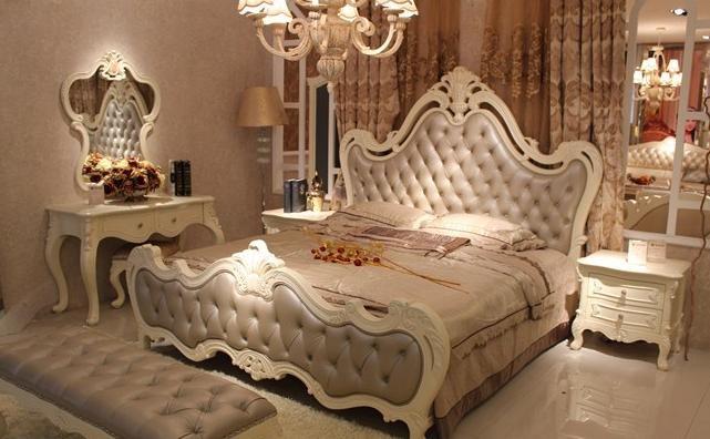欧式现代简约实木简约家居卧室系列床红橡木